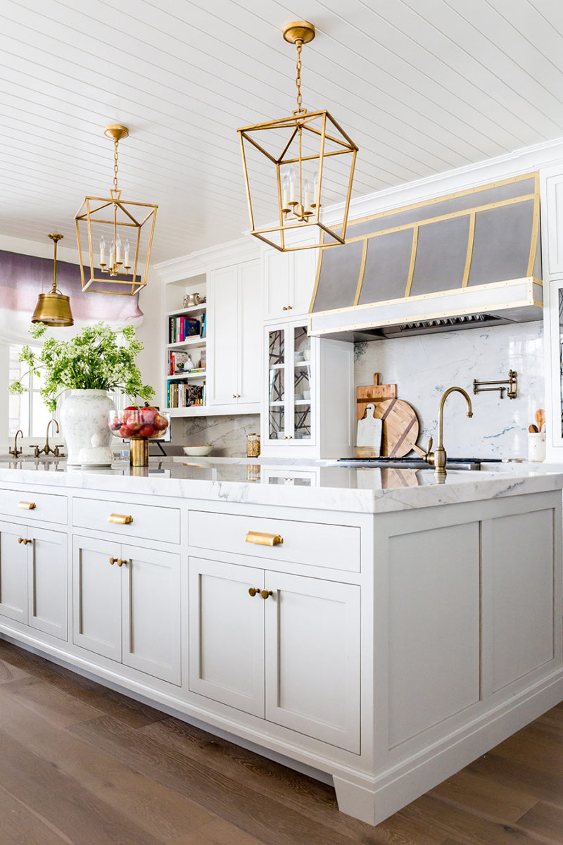 Grey Kitchen Cabinets Gold Hardware kitchen details: paint, hardware, floor – ivory lane