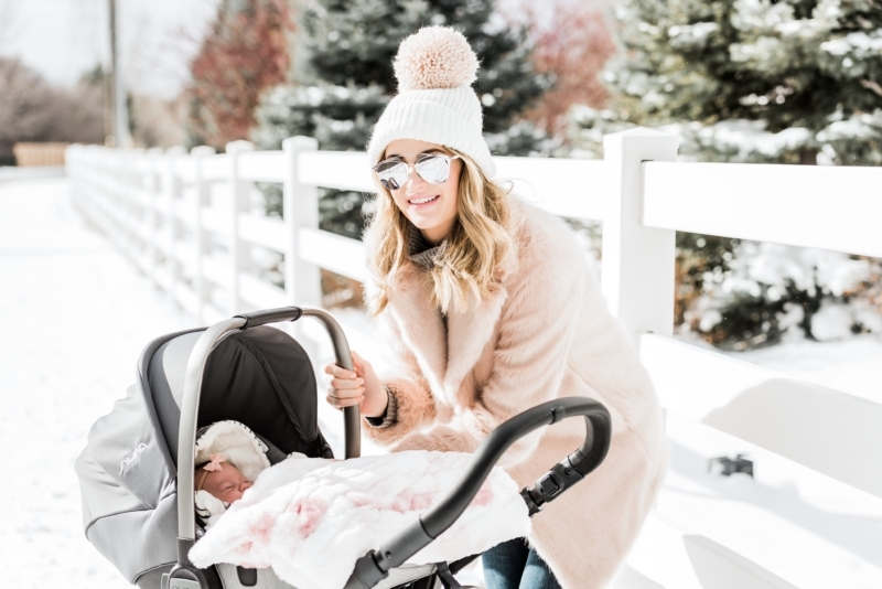 My outfit details: Nuna DEMI Grow Stroller, Pink coat (similar style here,  here and here), J.Crew sweater (similar style here and here), ...