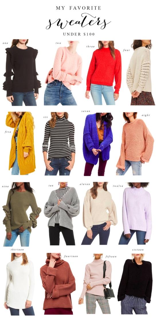 Favorite Sweaters Under $100